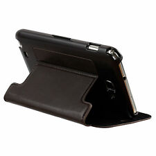 ZENUS Dark Brown PREMIUM Leather Stand Case For Samsung Galaxy Note N7000 i9220