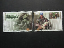 2001 CENTENARY OF THE  ARMY  2  STAMPS  F/S  USED  --GOOD  ORDER