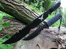 2er Set Machete Messer Knife Bowie Buschmesser Coltello Hunting Macete Machette