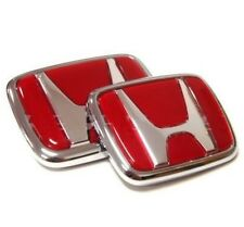 Red Honda Type r Emblem Set Civic Ek9 Accord Integra Dc2