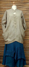 LAGENLOOK*KEKOO*BEAUTIFUL AMAZING TWO POCKETS LONG TUNIC*DUSTY BEIGE*Size 42-44