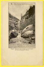 cpa Rare DOS 1900 LIGNE de LONS le SAUNIER à MOREZ CASCADE du NIAGARA JURASSIEN