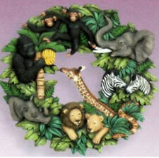 "Ceramic Bisque Ready to Paint ""Jungle""  Wreath"