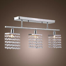 Modern Ceiling Fixture Chandelier with 3 lights in Crystal Linear Design