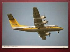POSTCARD AIR BRYMON AIRWAYS DHC DASH-7 AEROPLANE