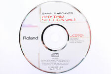 Roland L-CD701 Sample Archives Rhythm Section Vol. 1 CD-ROM