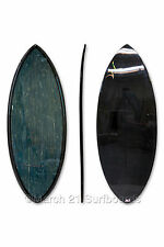 "52"" Epoxy EPS Skimboard Medium Pin Tail Blue Bamboo Carbon Skim Surf"