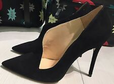 ZARA ASYMMETRIC LEATHER HIGH HEEL SHOES 36, US6 REF. 5215/101 100% Goat Leather