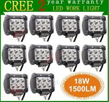 "10X4"" 18W Cree LED Work Light Bar Spot Beam Offroad 4WD UTE SUV Fog Driving Lamp"