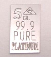PLATINO lingotto 5 gr. = 0,324 grammi 99,9 Lingotto platino Platinum PT finemente PLATINO