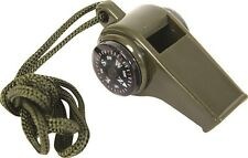 3 in 1 Bushcraft and Emergency Survival Whistle with Compass and Lanyard