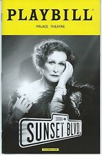 SUNSET BOULEVARD Opening Night Playbill GLENN CLOSE Andrew Lloyd Weber