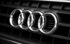 Audi RINGS CHROME FRONT BONNET GRILLE GRILL BADGE EMBLEM LOGO 261x86mm