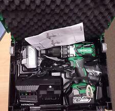 BRAND NEW UK HITACHI 18v BRUSHLESS COMBI DRILL DV18DBXL - 6AH 6AMP BATTERIES