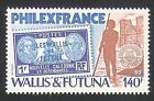 Wallis & Futuna 1982 Stamp-on-Stamp/S-on-S/StampEx/Ship/Building 1v (n34713)