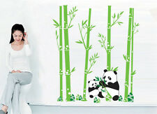 New Bamboo Panda vinyle Wall Art Stickers Muraux Cuisine Salon Salle Décorations