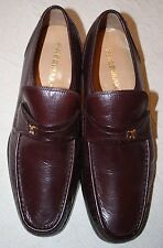 "Vintage Freeman Leather Men's Slip-On Loafer~Sz 10 W~Burgundy Brown~1 1/4"" Heels"