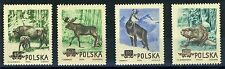 POLAND-STAMPS MNH Fi743-46B SC660-63 Mi885-88A - Protected animals 1954