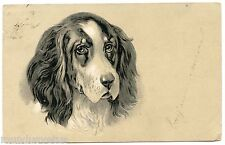 PORTRAIT DE CHIEN. GAUFRé. DOG. EMBOSSED