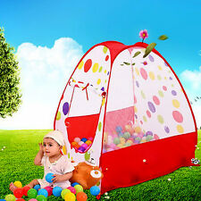 Foldable Kids Playhut Tent Ocean Ball In/Outdoor Toy Play Pit House Xmas Gift