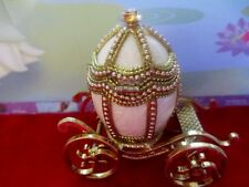 """Engagement / wedding  ring box   Authentic Pigeon Egg   """" gold coach  40426"""