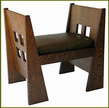 Window Bench Plans, Limbert & Stickley, Mission Arts and Crafts Furniture