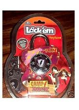 Disney CAMP ROCK Security COMBINATION LOCK School Bike Locker Padlock Jonas Demi