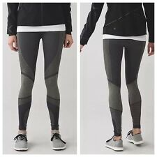 NWT Lululemon 'About That Base' Thermal Run-Yoga-Dance Tights, Black/Slate, 6