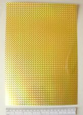 Sign vinyl - A4 sheet (297 x 210 mm) - mosaic effect - gold (metallic)