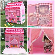 Kids Child Pink Princess Castle Playhouse Play Tent Portable Indoor Outdoor Hut