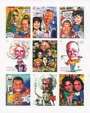 Le icone STAR TREK Bob Hope Einstein MADONNA 1999 imperforated TIMBRO SHEETLET