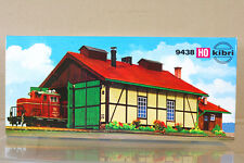 KIBRI 9438 HO SCALE 2 ROAD LOCOMOTIVE ENGINE SHED WORKSHOP STATION MODEL KIT ni