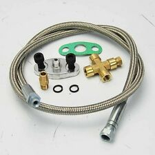 """36"""" ALUMINUM OIL FEED LINE 1/8 NPT FOR T3 T4 T04E T66 T67 T70 GT35 TURBO CHARGER"""