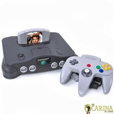 Nintendo 64 N64 Retro Game Console Controller Bundle w/ Goldeneye 007 UK PAL