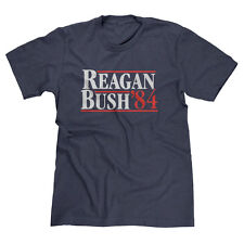 RONALD REAGAN GEORGE BUSH 1984 VINTAGE REPUBLICAN PRESIDENT FUNNY T-SHIRT TEE