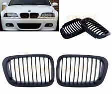 Matte black Front Kidney Grill Grille For BMW E46 3Series Sedan 4Door 1998-2001