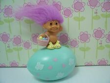 EASTER EGG WITH ATTACHED MINIATURE BUNNY - Russ Troll Doll - NEW