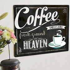 Coffee Heaven Fresh Ground Metal Wall Sign Plaque Cafe Art 40*30 50006