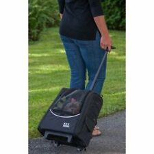 Pet Gear I-GO2 Escort Wheeled Carrier Car Seat Backpack Tote Rolling Case Black