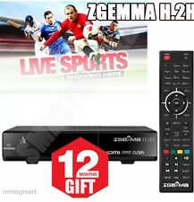 ZGEMMA h2h HD BOX WITH 12 month��➕Plug And Play➕ Support After Sale➕Twin Tuner