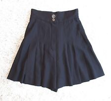 CHANEL BOUTIQUE BLACK PLEATED HIGH WAISTED CULOTTE SHORTS