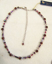 NEW  Red Pink Purple Bright Rhinestone Sorrelli Necklace Choker 14-18""