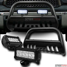 Hammer Blk Bull Bar Grille Guard+36W Cree LED Fog Light 07-16 Tundra/08+ Sequoia