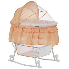 Dream On Me Lacy Portable 2-in-1 Bassinet and Cradle - Coral