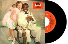 """LOUIS ARMSTRONG WITH GABRIELE - UNCLE SATCHMO'S LULLABY - 7"""" 45 RECORD PIC SLV"""