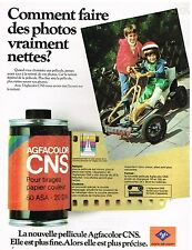 Publicité Advertising 1977 La pellicule Agfacolor CNS Agfa Gevaert