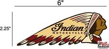 "(IND-2-R) 6"" RIGHT INDIAN MOTORCYCLE WAR BONNET STICKER DECAL"