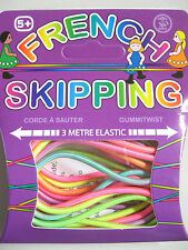 FRENCH SKIPPING ELASTIC 3 METRES COLOURED CYLINDRICAL ELASTIC FOR OUTDOOR FUN