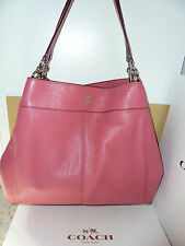NWT Coach Lexy Shoulder Pebble Leather  Bag F57545-Silver/Strawberry