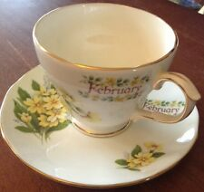 Vintage Duchess Fine Bone China Birth month February Yellow Floral Made England